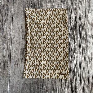 Michael Kors MK Logo Knit Scarf - Tan